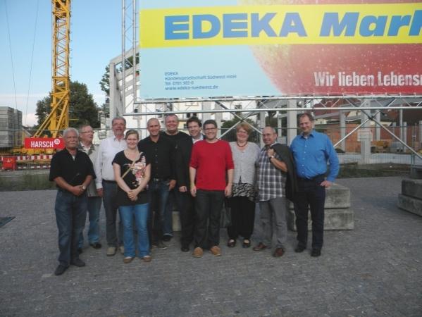 SPD besichtigt EDEKA-Baustelle