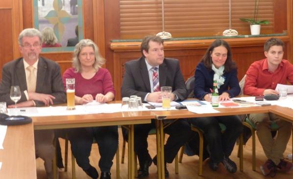 Horst A Härter, Karin Dobelmann, Hanno Benz, Mechthild Benz und Tim Sackreuther