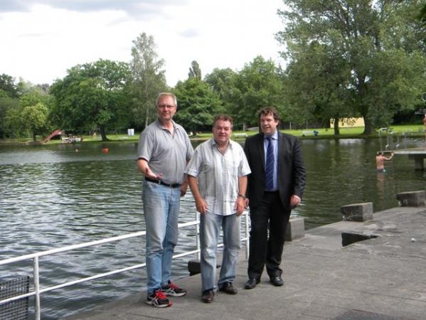 Dieter Wenzel, Walter Schmidt und Hanno Benz