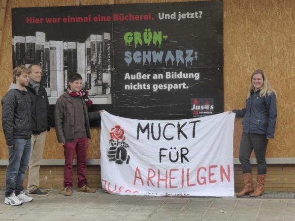 Plakataktion der Jusos Darmstadt-Nord