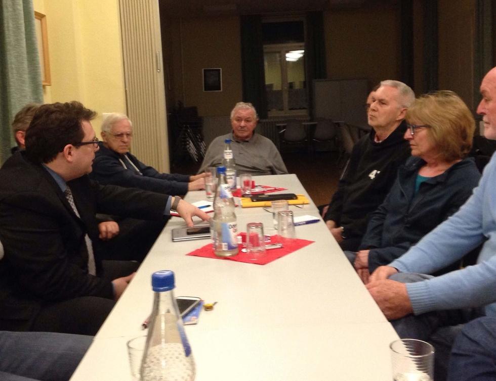 Gruppenbild Vereinsdialog SPD Heimstättensiedlung