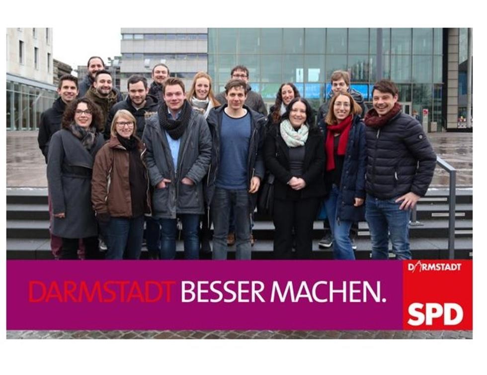 Gruppenbild junge Kandidat*innen der SPD Darmstadt