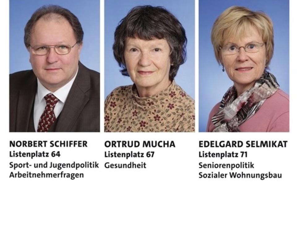 Norbert Schiffer, Ortrud Mucha und Edelgard Selmikat
