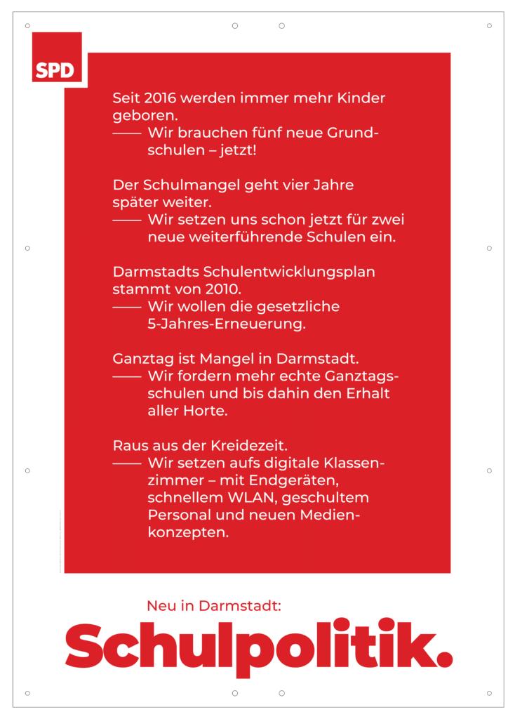 """Plakat """"Schulpolitik"""""""