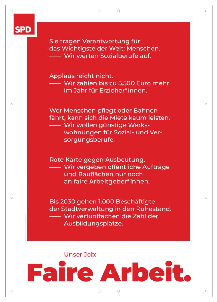 """Plakat """"Faire Arbeit"""""""