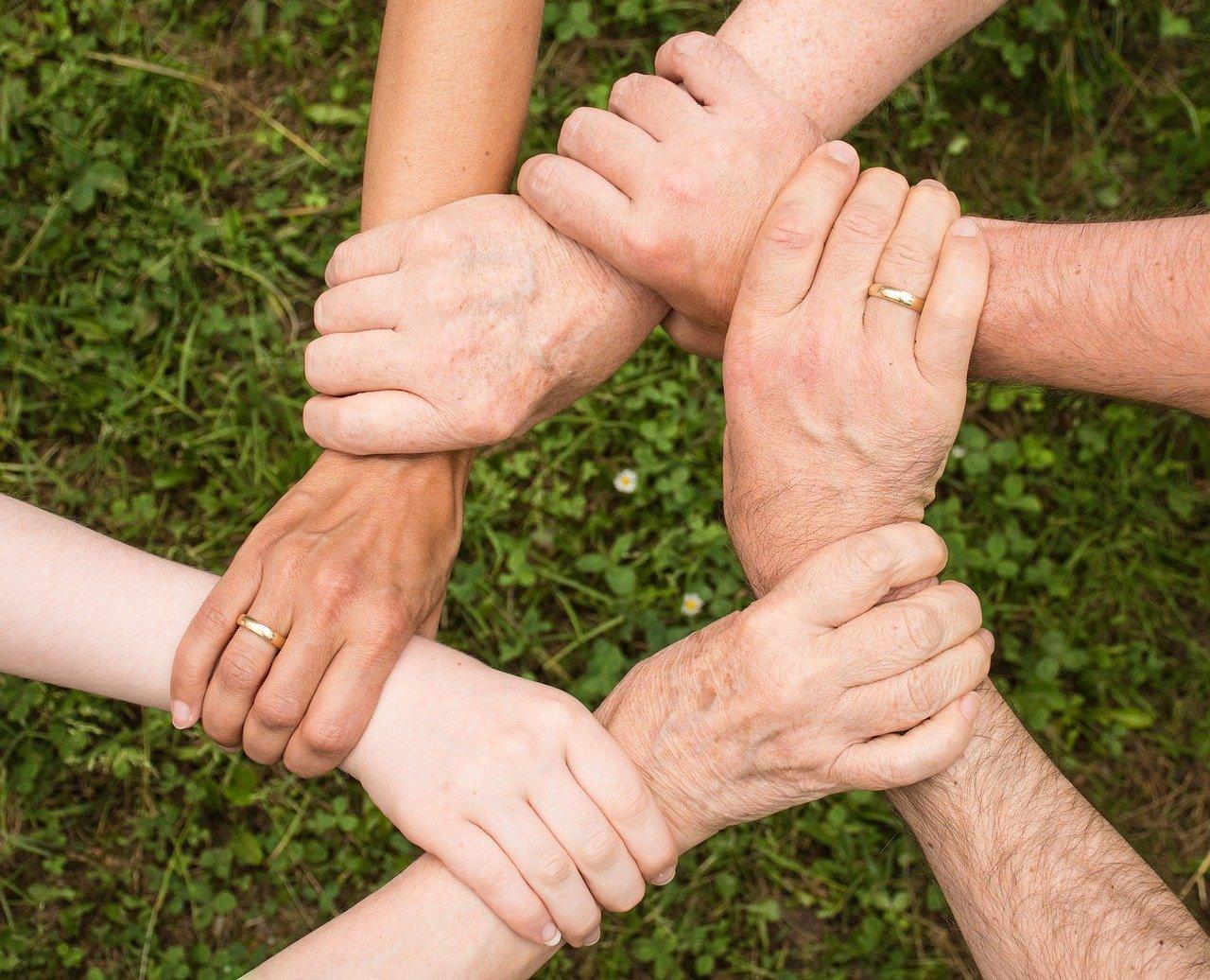 Zusammenhalt Gemeinsam Hände