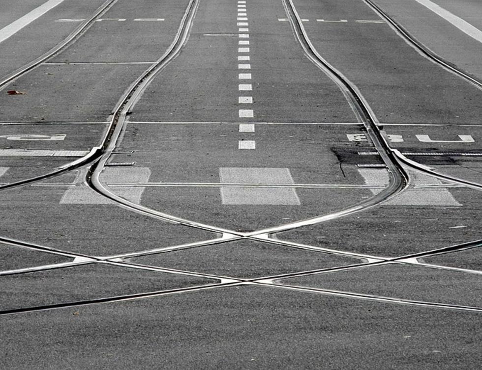 Straßenbahngleis