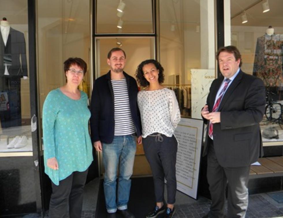 Katrin Kosub, Jörg Klingelmeyer, Karima Hartit und Hanno Benz