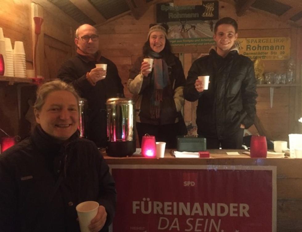 (v.l.n.r.) Karin Dobelmann, der stellvertretende SPD-Vorsitzende Jürgen Hein-Benz, Mechthild Benz und Tim Sackreuther