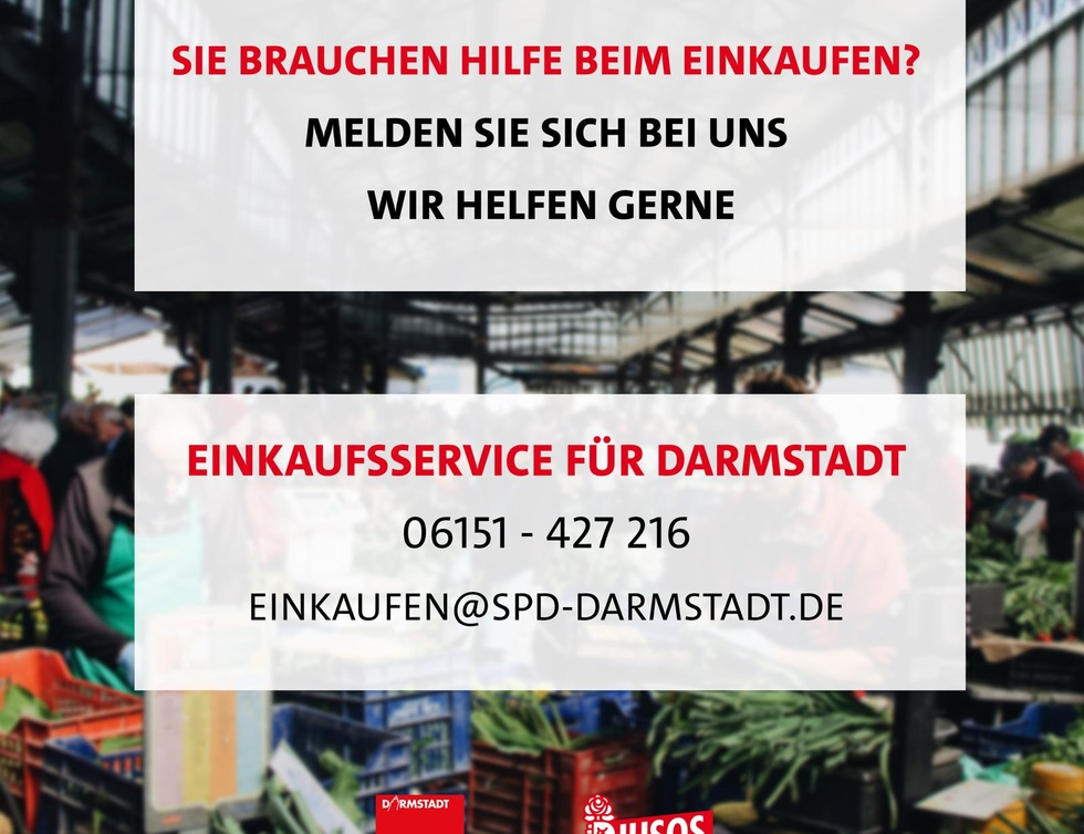 SharePic Einkaufshilfe für Darmstadt